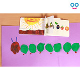 Balloon Printing Caterpillars and Butterflies - The Very Hungry Caterpillar
