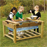OUTDOOR WOODEN WATER PLAY UNIT