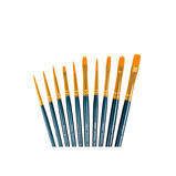 Red Synthetic Sable Round and Flat Assorted Brushes