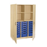 OPEN TALL TRAY/SHELF C/BRD 1800MM OAK/BLUE