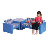 Stripe Corner Sofa Set
