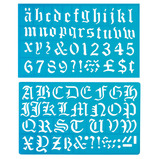 Old English Style Lettering Stencil