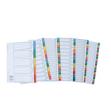 PLASTIC INDEX DIVIDERS A4 1-31