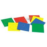 MULTICOLOURED PINBOARDS PACK OF 6