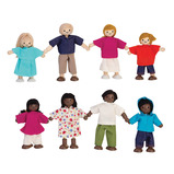 WOODEN DOLL FAMILY ETHNIC SET OF 4