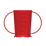 2-HANDLED BEAKER POLY 25CL (9OZ) RED