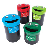 Smiley Face Recycling Bins