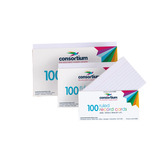 Consortium Ruled Revision Cards White