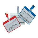 VISITOR NAME BADGES RED PK25