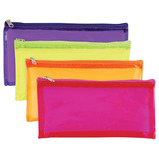 PENCIL CASE CLEARVIEW TINTED ASSTD PACK OF 12
