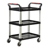 UTILITY TRAY TROLLEY 3 SHELF