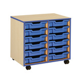 Coloured Edge 12 Shallow Tray Unit