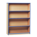 Coloured Edge Open Bookcase with 3 Shelves