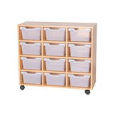 CUBBY UNIT 12 TRAY 4 HIGH CLR BE