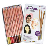 ACADEMY W/COLOUR SKIN PENCIL PK12