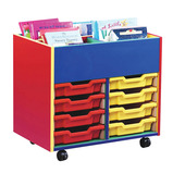 Colour My World Mobile Kinderbox 8 Shallow Tray Unit