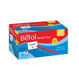 BEROL HANDWRITING PEN D/BLUE PK200
