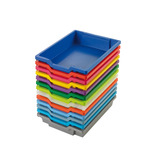 GRATNELLS SHALLOW TRAY STEEL BLUE