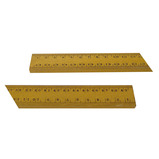 RULER, 1 METRE WOODEN CM MM DIVISION