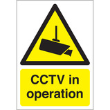 CCTV IN OPERATION SIGN 420X594MM