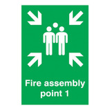 FIRE ASSEMBY POINT 1 SIGN 297X420MM