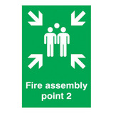 FIRE ASSEMBY POINT 2 SIGN 297X420MM