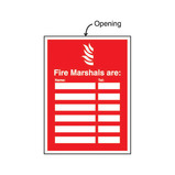 FIRE MARSHALLS ARE SIGN 240X327MM