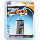 ULTRA MAX RECHARGEABLE 9V 160MAH