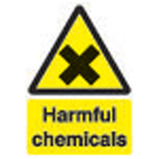 210X148MM HARMFUL CHEMICALS SIGN