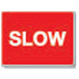 Slow Traffic Signs