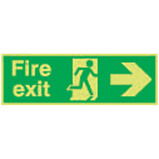 Nite-Glo Fire Exit Running Man Arrow Right