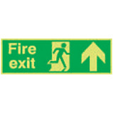 Nite-Glo Fire Exit Running Man Arrow Up