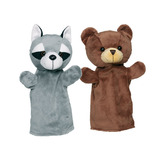 ANIMAL HAND PUPPETS SET OF 4