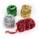 4 ASSORTED 10M TINSEL STAR GARLANDS