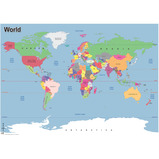 Simple Map of the World