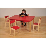 Coloured Rectangular Beechwood Tables