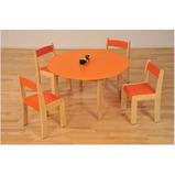 Coloured Round Beechwood Table