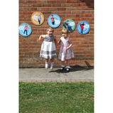 Round Outdoor Learning Board Set