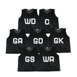 VALUE NETBALL BIBS MEDIUM BLACK PK7