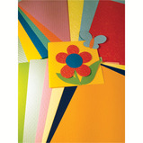 A4 RAINBOW EMBOSSED CARD