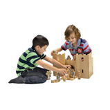 Natural Wooden Castle Play Set