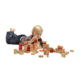 Natural Wooden Castle Building Blocks