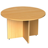 ARROWHEAD CIRC TABLE 1200X725MM BEECH