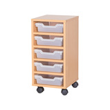 TRAY UNIT 5 SHALLOW CUBBY CLR MAPLE