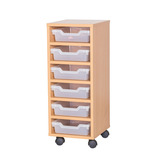 TRAY UNIT 6 SHALLOW CUBBY CLR MAPLE