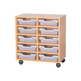 TRAY UNIT 10 SHALLOW CUBBY CLR MAPLE