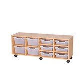TRAY UNIT 6 SHLW & 4 CUBBY CLR MAPLE