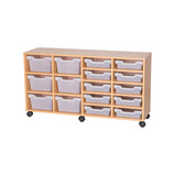 TRAY UNIT 10 SHLW & 6 CUBBY CLR MAPLE