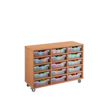 TRAY UNIT 15 SHALLOW CUBBY CLR MAPLE