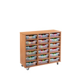 TRAY UNIT 18 SHALLOW CUBBY CLR BEECH
